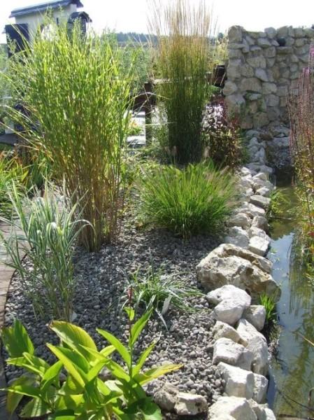 Gartengestaltung Kies Graeser Terrasse Ideen Holzzaun ...